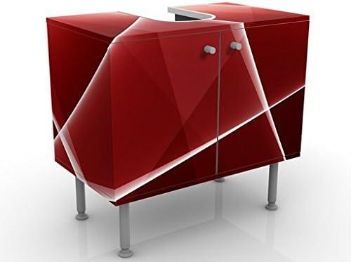 Apalis Waschbeckenunterschrank Red Reflection 60x55x35cm Design Waschtisch, Größe:55cm x 60cm