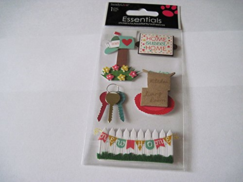 Sticker Scrapbooking Dimensional Sandylion New Home Sweet Home Mailbox Keys