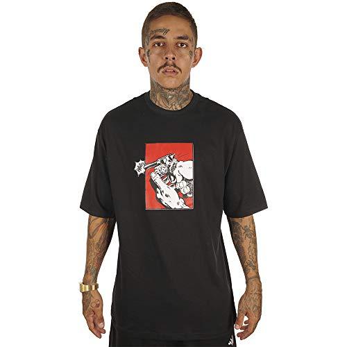 Camiseta Wanted - Who Shot Ya? Preto Cor:Preto;Tamanho:XG