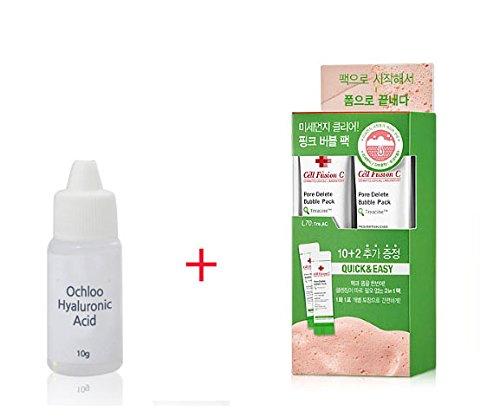 Cell Fusion C: Tre. AC Pore Delete Bubble Pack: Foaming Cleanser 5gx 12 + Ochloo Hyaluronic acid 10ml