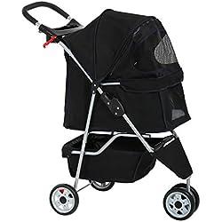 BestPet New Pet Stroller Cat Dog Cage 3 Wheels Stroller Travel Folding Carrier
