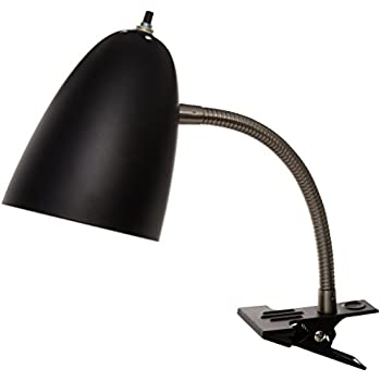 Boston Harbor   Flexible Clip On Table Lamp, Black