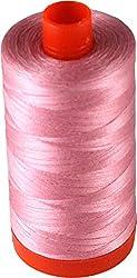 Aurifil Cotton Mako 50wt Bright Pink Thread Large Spool 1421 yard MK50 2425