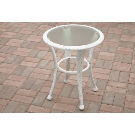 (Outdoor Side Table Azalea Ridge, Blue/White )