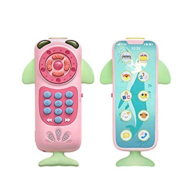 Mifelio Baby Music Phone Electric Toys Early Educational,Laugh & Learn Gift,0-24 Months Teether Learning(Pink): Garden & Outdoor