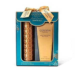 Godiva Hot Cocoa Travel Set | Contains 16 oz. Travel Tumbler with Lid & Godiva Milk Chocolate Cocoa