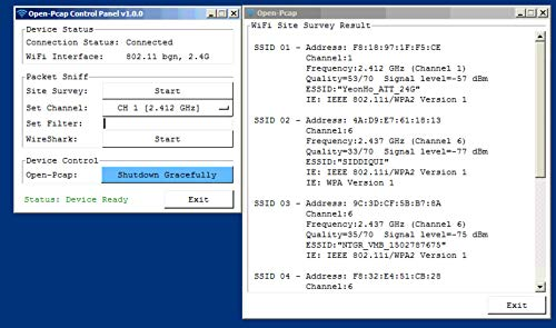 OpenPcap WiFi Sniffer, 802 11 Wireless Packet Capture for Windows