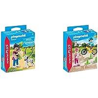 PLAYMOBIL 70154 Special Plus Mamá con Bebé Y Perro, Multicolor + Special Plus Especial Niños Bici Y Patines, Color…
