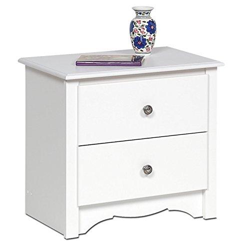 (Night Stand 2 Drawer - Monterey (White) (23 1/4