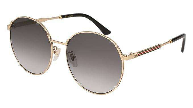acquista lusso comprare bene dove posso comprare Gucci Occhiali da sole Donna GG0206SK-001 58 Gold - Tondi ...