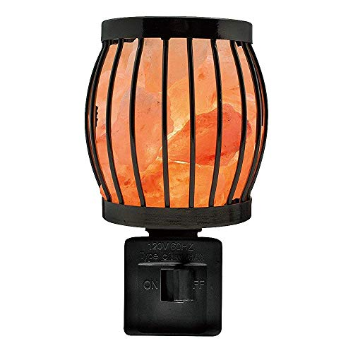 Himalayan Glow 1804 Natural Salt Lamp Wall Plug In, 360 Rotatable Framed Night Light -