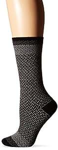 Goodhew Women's Bow Tie Socks, Black, Small/Medium