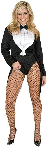OvedcRay Womens Ladies Sexy Tuxedo Tailcoat Cabaret Chaplin Costume Circus Ringmaster
