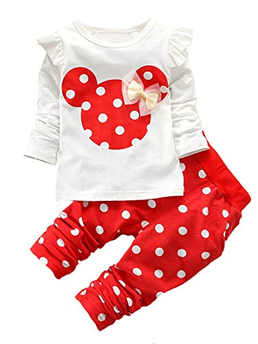 Top minnie mouse outfit 2t red