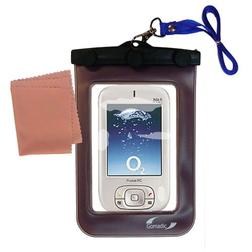 Gomadicアウトドア防水携帯ケースSuitable for the o2 XDA II Mini Mini Proを使用Underwater – keepsデバイスClean and Dry   B0049KSGDA