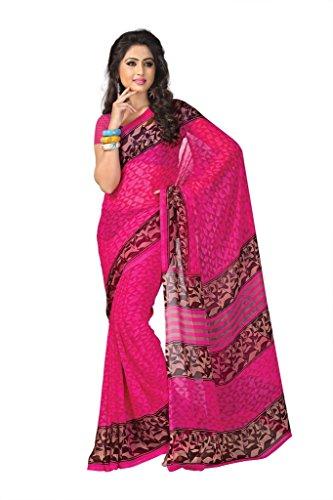Vaamsi Women Georgette Saree (Vega3035 _Pink _Free Size)
