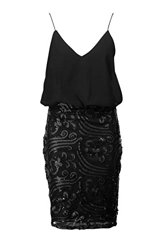 Buy black 2 in 1 sequin skirt dress - 3