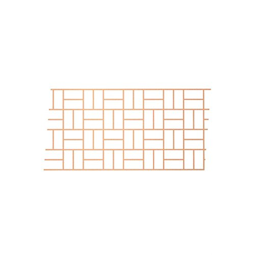 BonWay 32-241 33-Inch by 365-Feet Paper Stencils for Decorative Concrete, Basket Weave ()