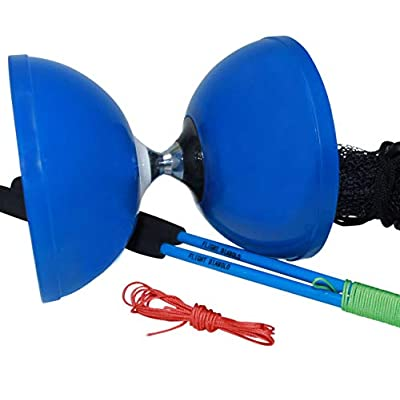 "Flight Pro Triple Bearing Medium 5"" Blue Chinese Yoyo Diabolo Toy with Carbon Sticks: Toys & Games"