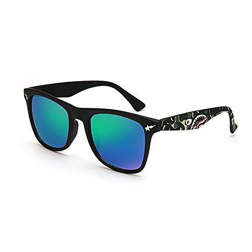 YQ De Personalidad La Gafas Color Gafas Sol QY Moda 4 Cuadradas 5 Unisex Retro De rzwrUqf