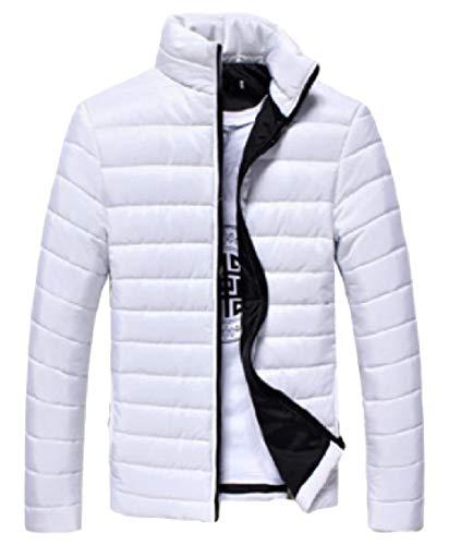 Cerniera Caldo Coreana Aderente Colletto Bianco Degli Puffer A Uomini Lunghe Rivestimento Energia Solido Alla Di Maniche awBXA
