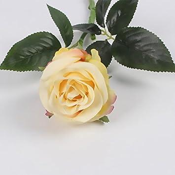 JIALE3536 künstliche blumen Künstliche Einzigen Bunten Rosen Blumen ...