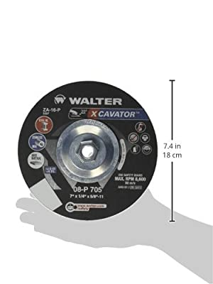 Walter Xcavator Ultra Aggressive Grinding Wheel, Type 27