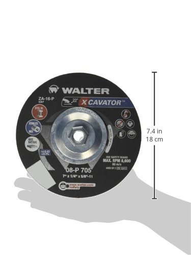 7 in Pack of 25 A-16-P Grit Surface Finishing Wheel Abrasive Tools and Accessories Walter Surface Technologies Walter 08P700 XCAVATOR Grinding Wheel -