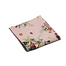 Sitong men's cotton linen printed pattern square pockets handkerchief(17)