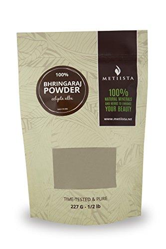 100% pure Bhringaraj Powder (Eclipta Alba) -1/2 LB- ORGANICALLY GROWN-RESEALABLE PACKAGING