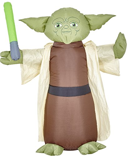 morbid enterprises star wars yoda lawn inflatable greenbrowntanblack - Star Wars Inflatable Christmas Decorations