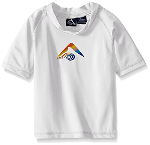 s' Toddler Voyage UPF 50+ Sun Protective Rashguard, White, 3T ()