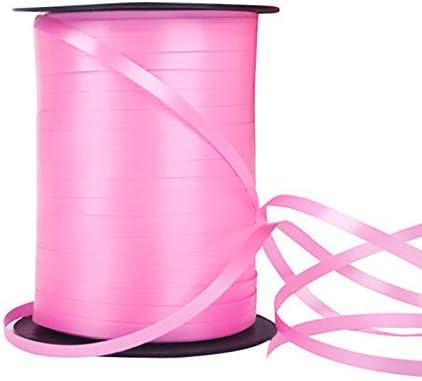 220 Metres x 5mm rose Aubess Ballon-Ringelband//Ballon mit Saiten f/ür B/änder-Geburtstag-Partei Dekor 100/Meter plastik