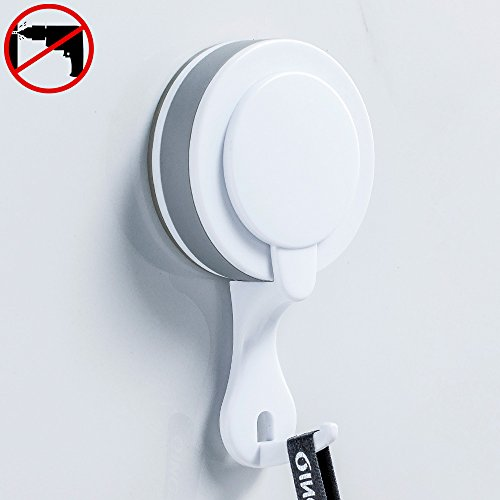 Hoomtaook Double Bathroom Shower Towel Hooks Super Power Vacuum Suction No Drill Waterproof for Kitchen (2 Pack) by Hoomtaook (Image #2)