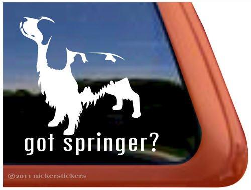 Got Springer? Springer Spaniel Dog Vinyl Window Decal Dog ()