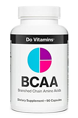 Do Vitamins - Natural Vegan BCAA Capsules, Pure Plant Based Essential Branched Chain Amino Acids Supplement for Bodybuilding Pre Workout & Post Workout Muscle Recovery, 2:1:1 2100mg 90ct