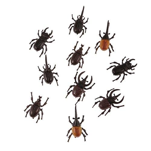 Perfk 5種類(10個) カブトムシ 虫モデル 動物 子供 面白い 玩具 飾り 贈り物の商品画像