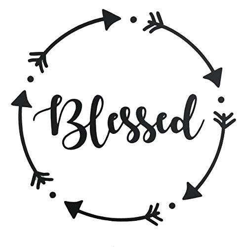 - Personalized Blessed Vinyl Decal - Arrow Bumper Sticker, for Tumblers, Laptops, Car Windows - Pick Size and Color