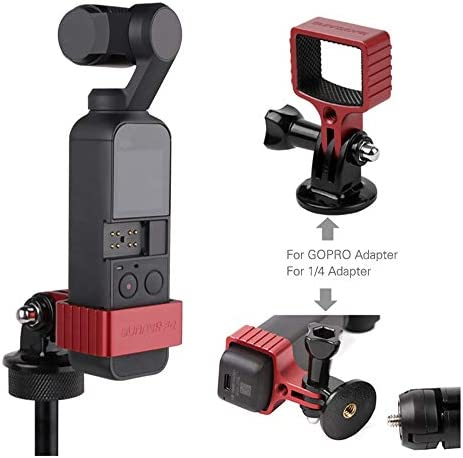 Camera Accessories for OSMO Pocket DJI OSMOポケット用Hyx Sunnylife OP-Q9192メタルアダプターブラケット (Color : Black)