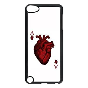 iPod Touch 5 Case Black Ace of Hearts