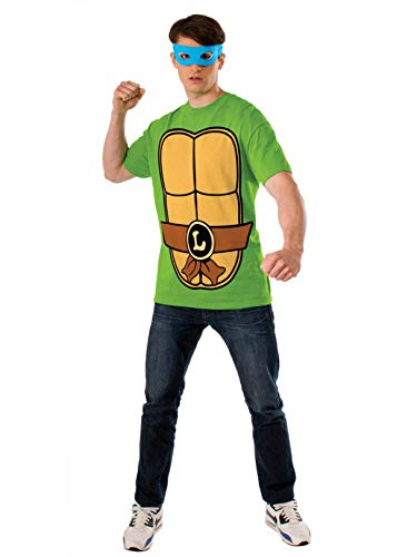 Nickelodeon Ninja Turtles Shirt With Mask and Leonardo,