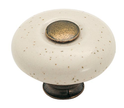 Amerock BP878-OM Oatmeal Porcelain Accent Knob (Porcelain Knob Amerock)
