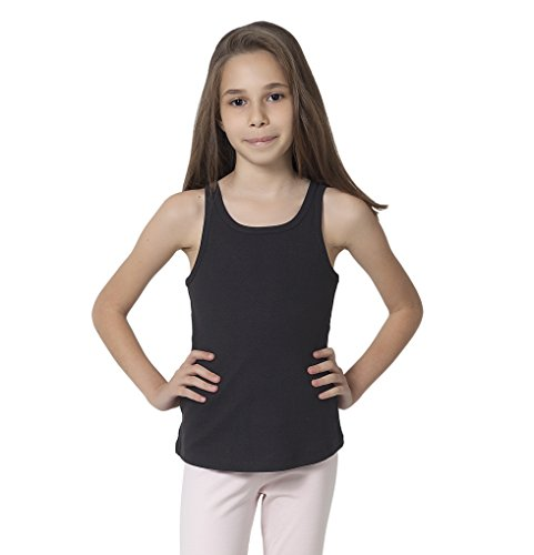 CAOMP Tank Tops For Girls, Certified Organic Cotton, Sleeveless, Ribbed Tees. 13/14 ()