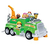 Paw Patrol, Rocky's Total Team Rescue Recycling Truck with 6 Pups, for Kids Aged 3 & Up