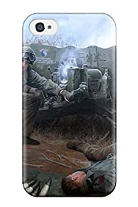 Scratch Free Phone Case For Iphone 4/4s Retail Packaging Soldier