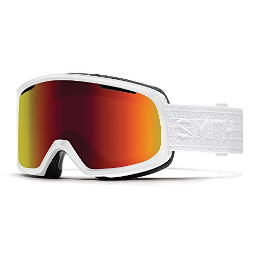 SMITH Riot Masque de Ski Mixte, BlackOut8S Eclipse White