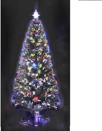 Albero Di Natale Fibra Ottica 180 Cm.Albero Di Natale Sintetico Artificiale Fibre Ottiche 210 Led Luci Multicolor 180 Cm Gt 806019 Amazon It Casa E Cucina