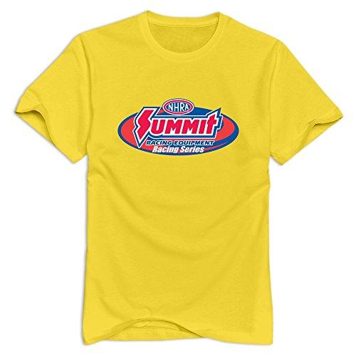 - Tavil NHRA Drag Racing 100% Cotton T-shirt For Men Yellow Size XL