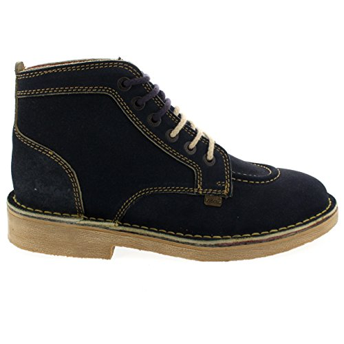 Zapatillas Para Hombre Legendry Suede Work Tobillo High Office Lace Up Zapatos Inteligentes Azul Marino