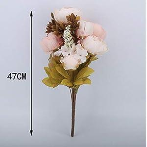 Pack of 2 Artificial Flowers Vintage Fake Silk Peony Flowers Wedding Bush Bouquet Arrangement for Home Decor Party Floral Wreath Centerpieces Decoration and DIY (Light Pink) 4